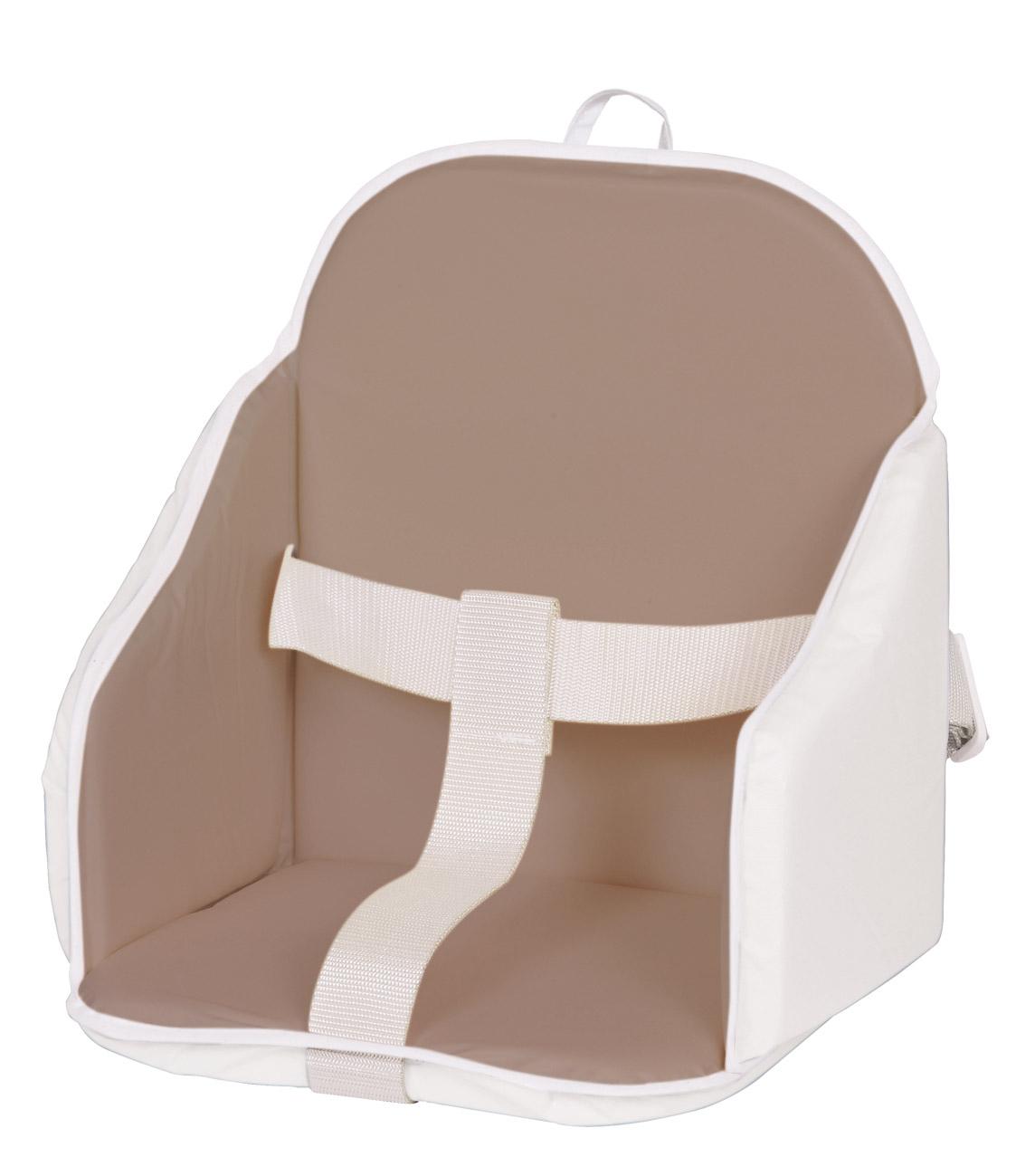 coussin de chaise pvc taupe blanc candide. Black Bedroom Furniture Sets. Home Design Ideas